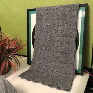 Accessories - NWOT  lightweight knitted dark gray scarf
